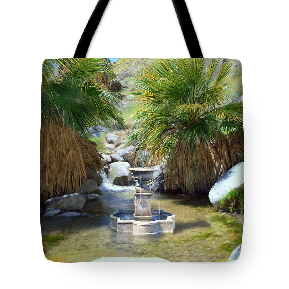 Fountain Tote Bag featuring the digital art Fountain Of Youth by Snake Jagger