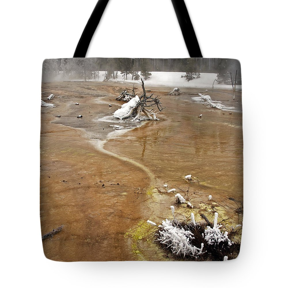 Fountain Paint Pots Tote Bag featuring the photograph Fountain Paint Pots 6062 by Cindy Murphy - NightVisions