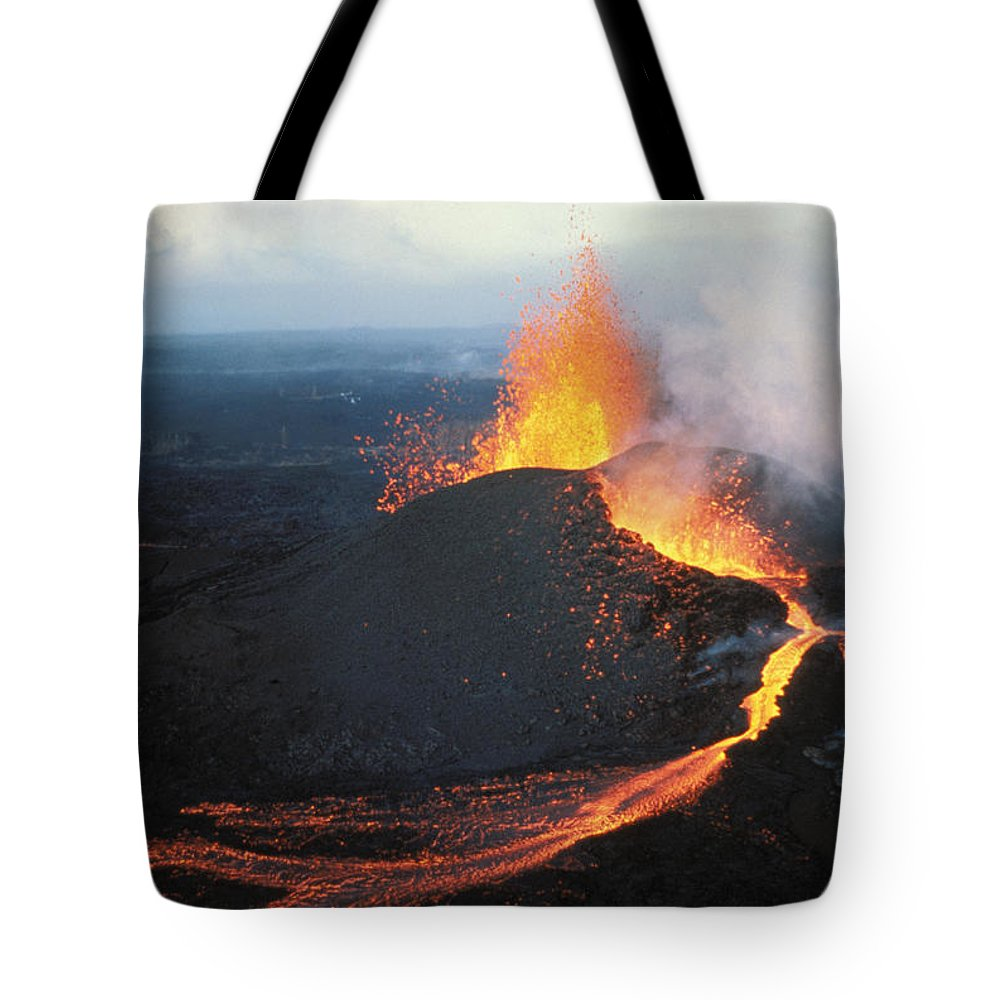 Active Tote Bag featuring the photograph Fountaining Action by Ali ONeal - Printscapes