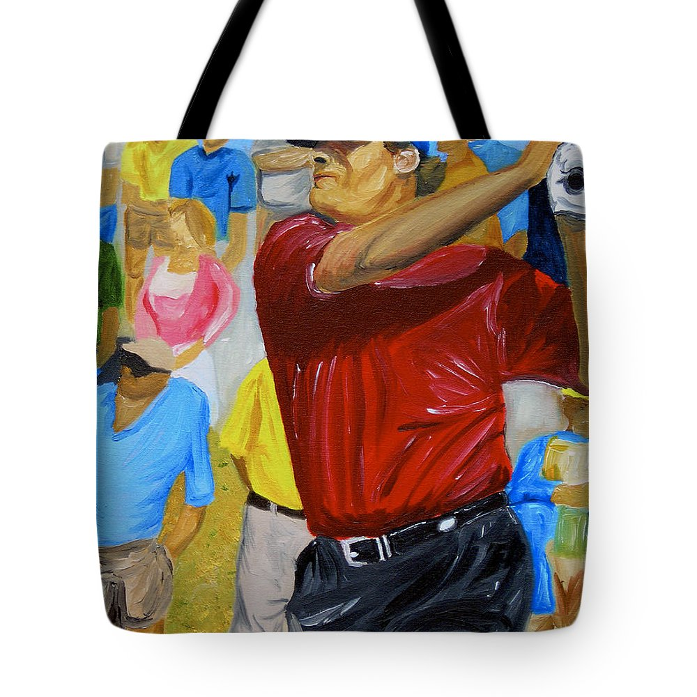 Golf Tote Bag featuring the painting Four by Michael Lee