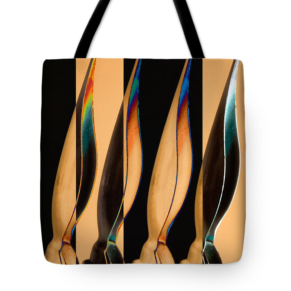 Calligraphy Tote Bag featuring the photograph Four Pen Nibs by Carol Leigh