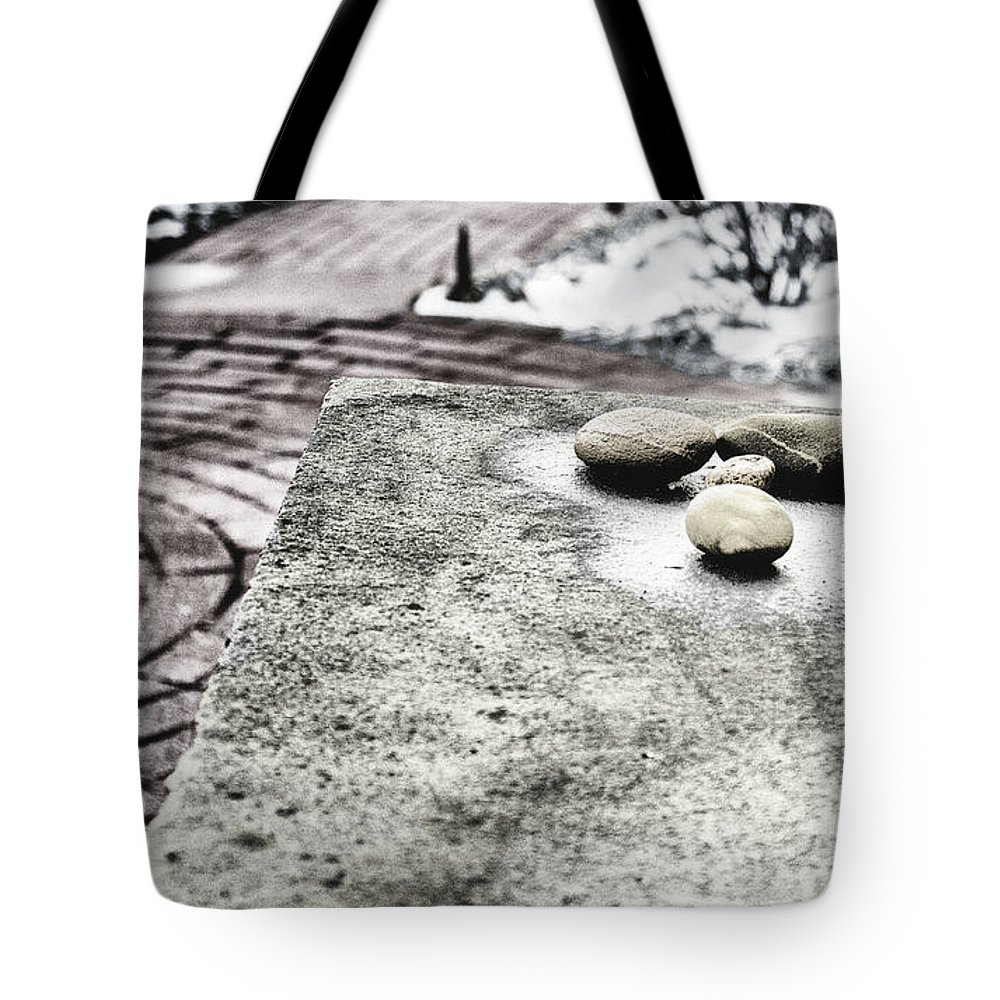 Stones Tote Bag featuring the photograph Four Stones by John Hoesly