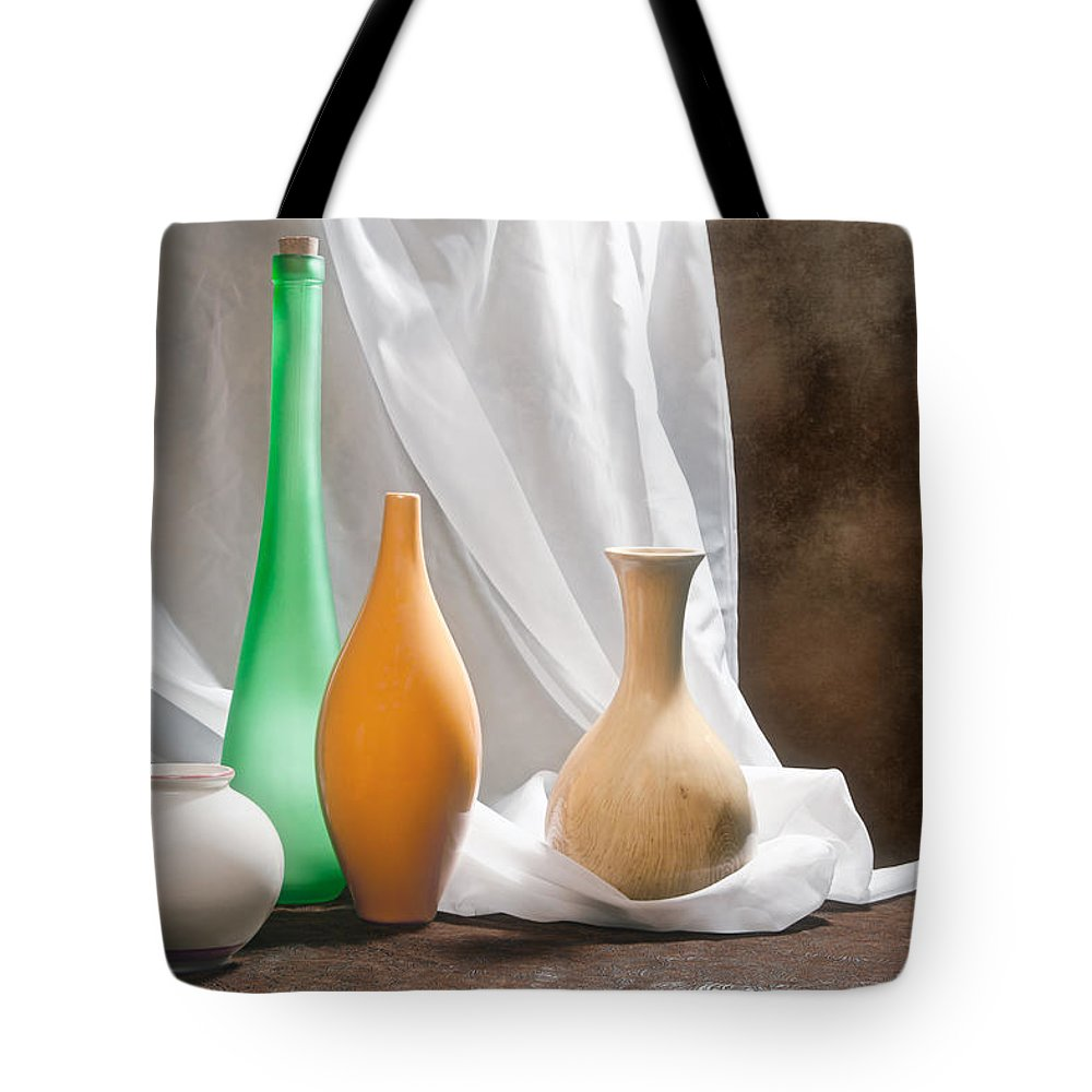 Vase Tote Bag featuring the photograph Four Vases II by Tom Mc Nemar