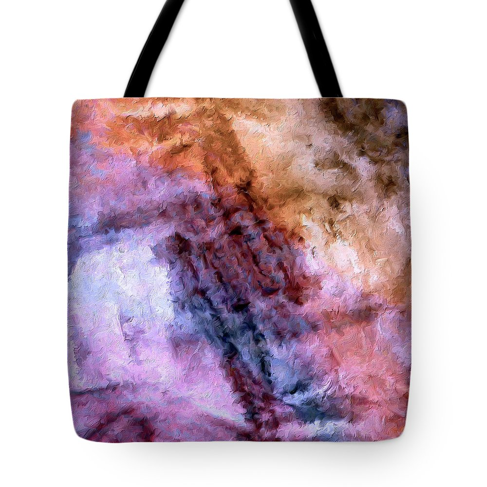 Abstract Tote Bag featuring the painting Fourth Bardo by Dominic Piperata