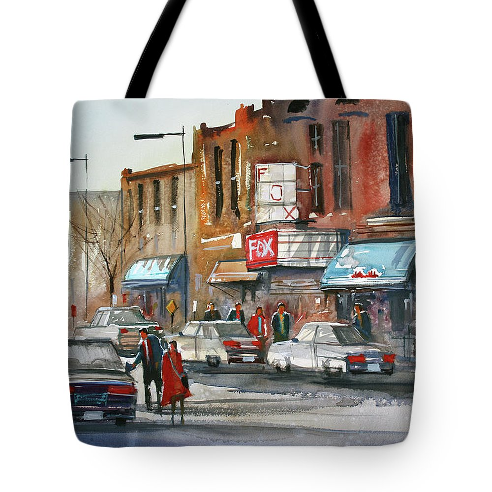 Movie Theater Paintings Tote Bags