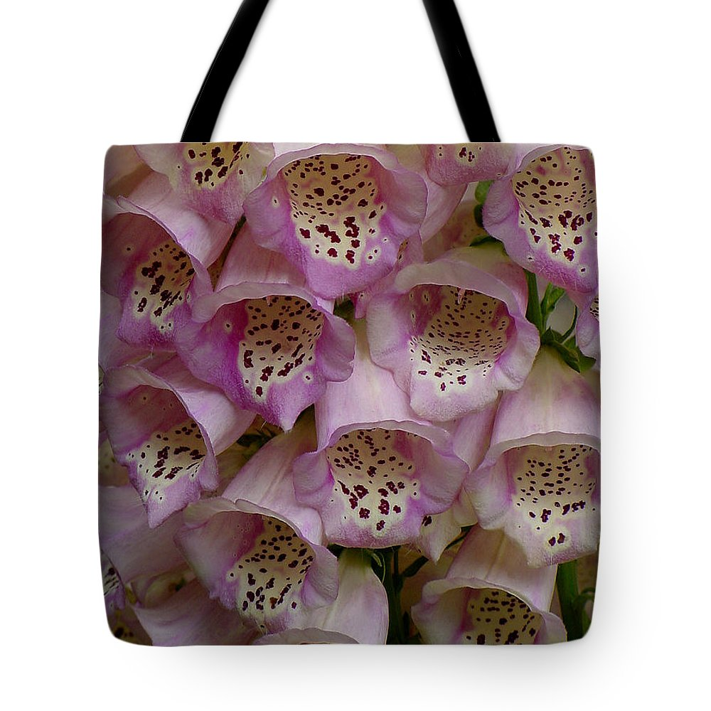 Flower Tote Bag featuring the photograph Foxglove Upclose by Shirley Heyn