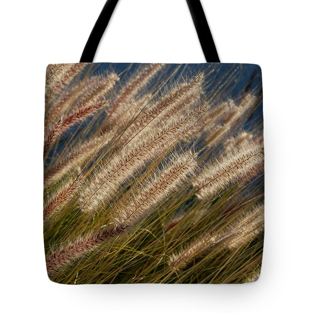 Foxtails Tote Bag featuring the photograph Foxtails by John Malmquist
