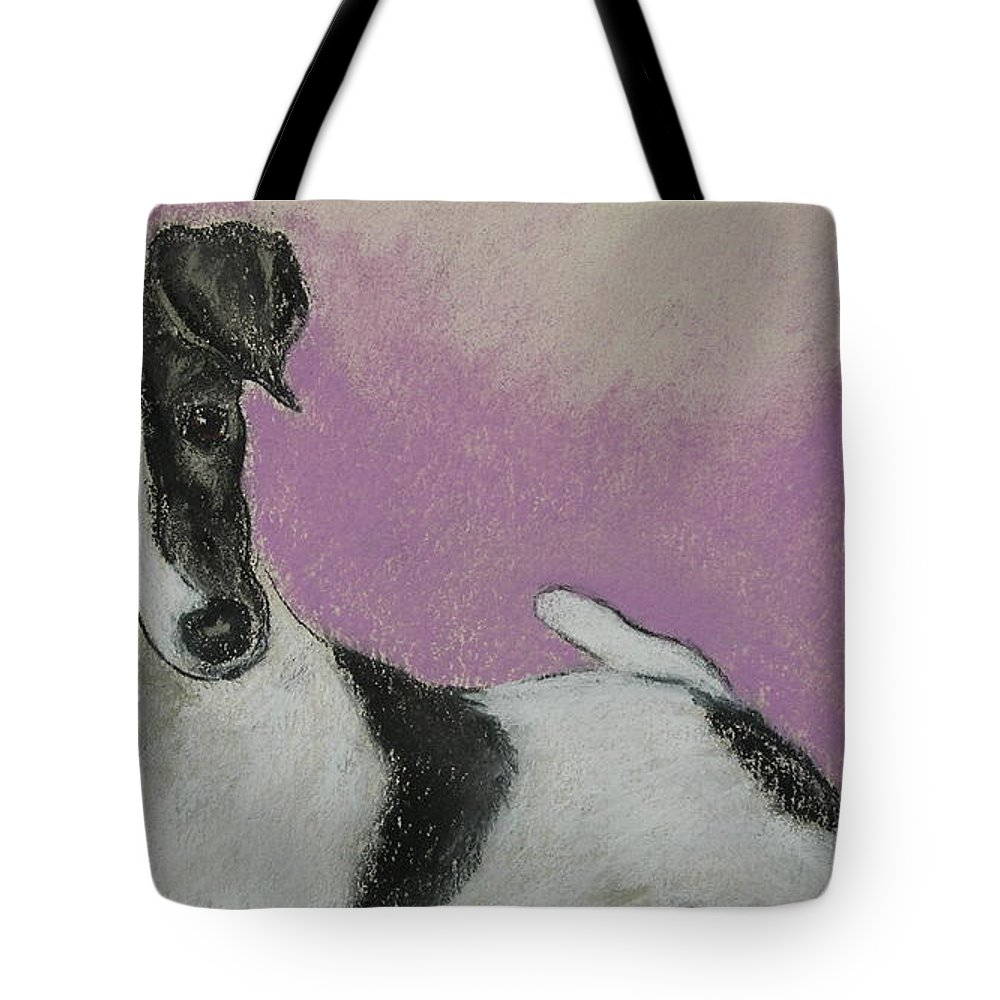 Dog Tote Bag featuring the drawing Foxy by Cori Solomon
