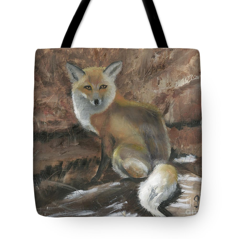 Baggage Covers Oil Painting Art Red Fox Washable Protective Case