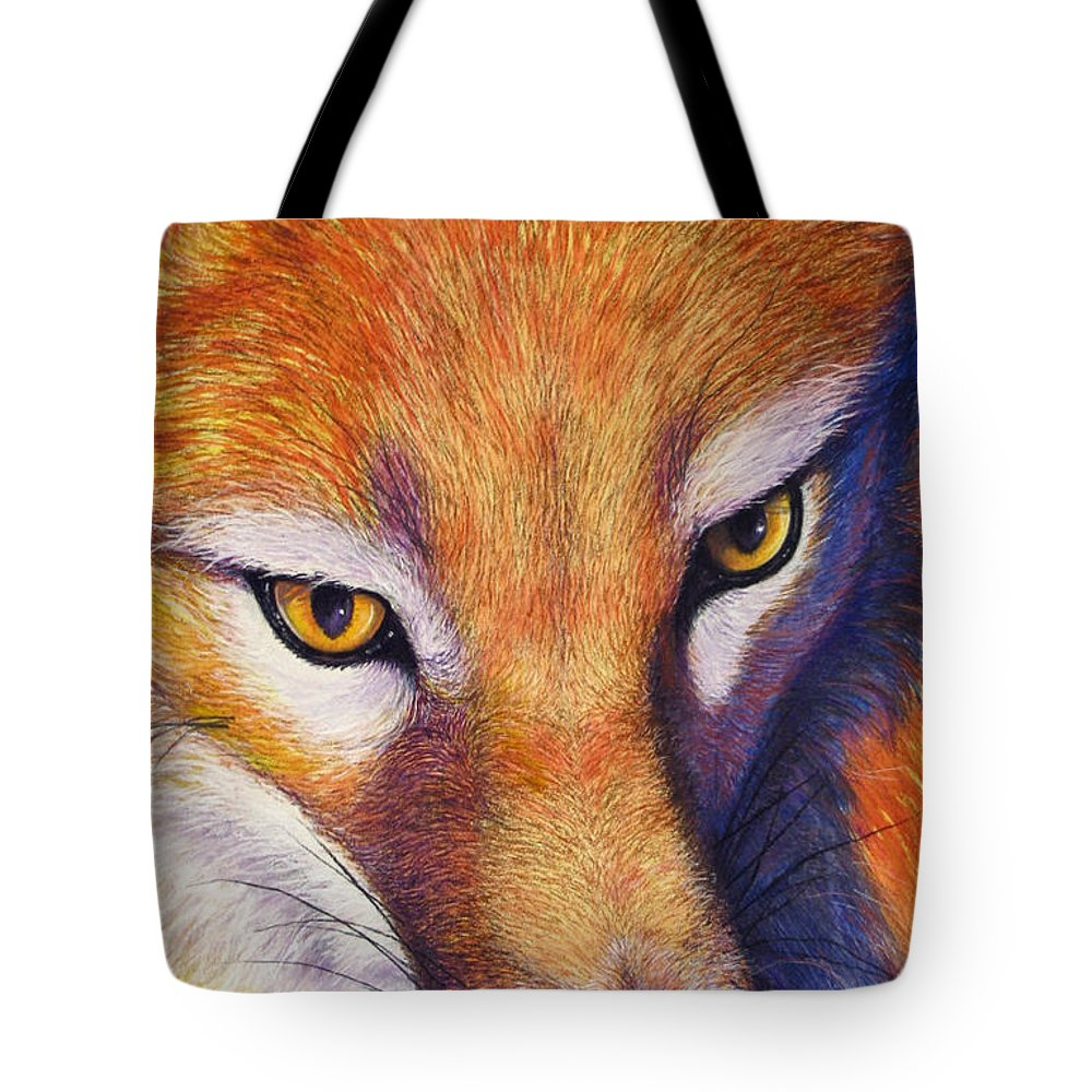 Fox Tote Bag featuring the painting Foxy by Tanja Ware