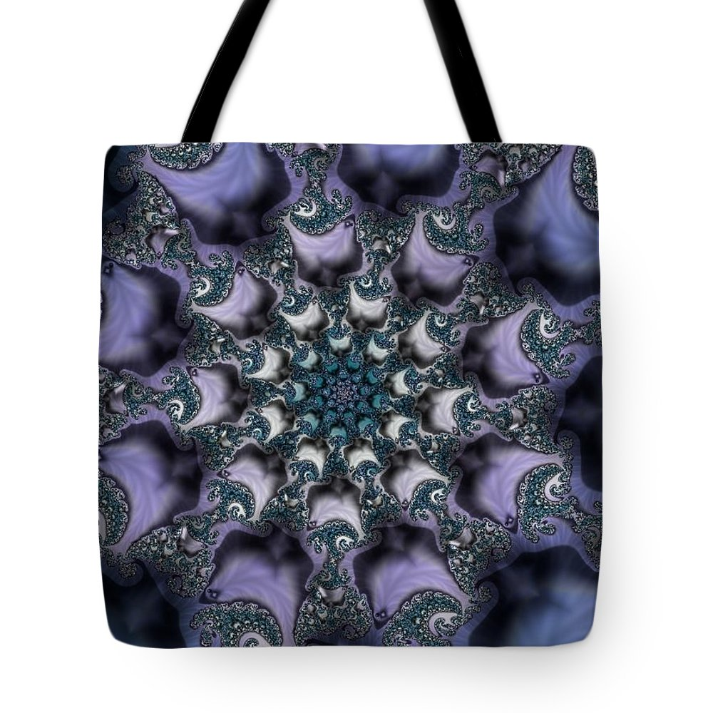 Fractal Rose Blossom Nature Life Organic Tote Bag featuring the digital art Fractal 1 by Veronica Jackson