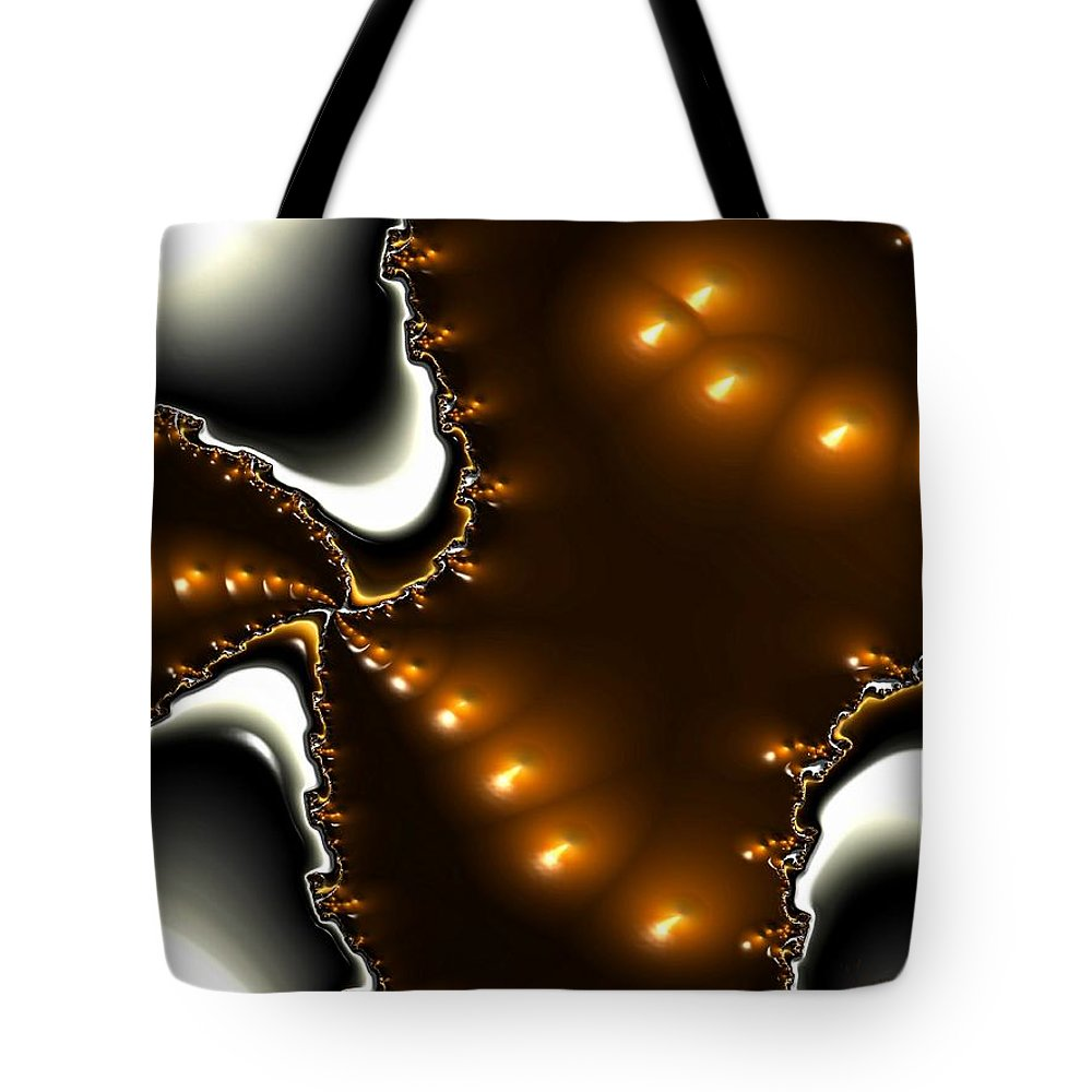 Nest Eggs Fractals Jewels Tote Bag featuring the digital art Fractal 2 by Veronica Jackson