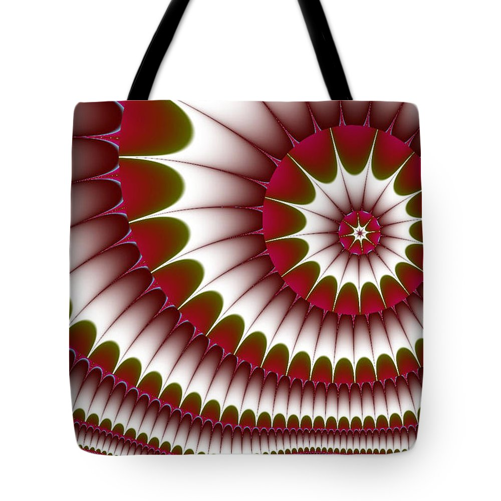 Fractal Digital Art Tote Bag featuring the digital art Fractal 634 by Charmaine Zoe