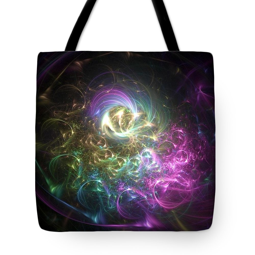 Fractal Consciousness Tote Bag featuring the digital art Fractal Consciousness. by Enjargo Art