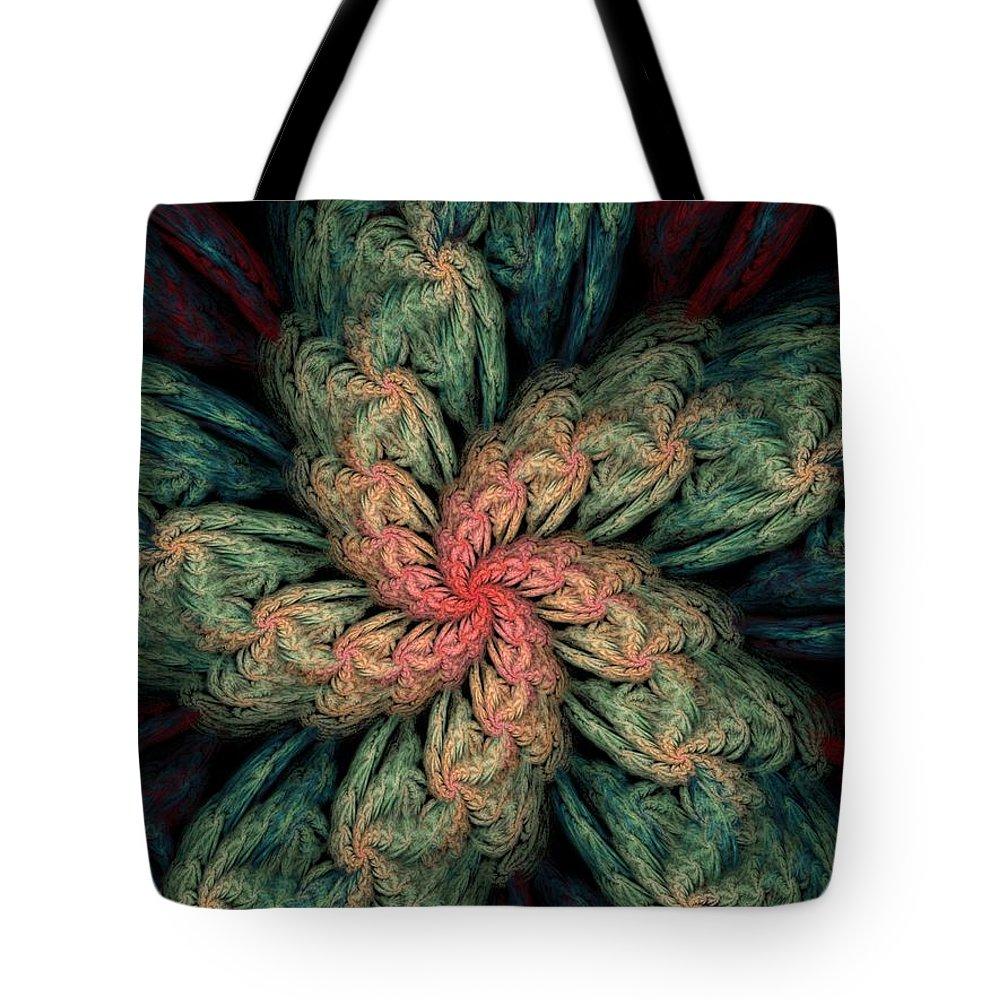 Digital Painting Tote Bag featuring the digital art Fractal Fantasy 02-13-10 by David Lane