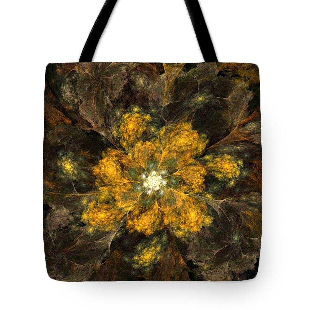 Digital Painting Tote Bag featuring the digital art Fractal Floral 02-12-10 by David Lane