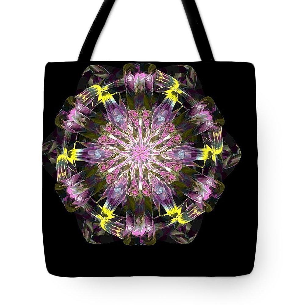 Digital Painting Tote Bag featuring the digital art Fractal Flowers 10-20-09 by David Lane