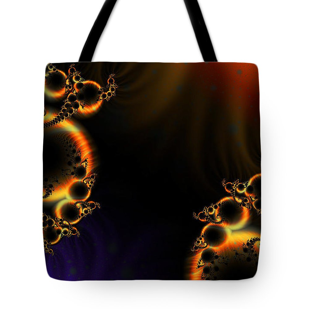 Clay Tote Bag featuring the digital art Fractalscape I by Clayton Bruster