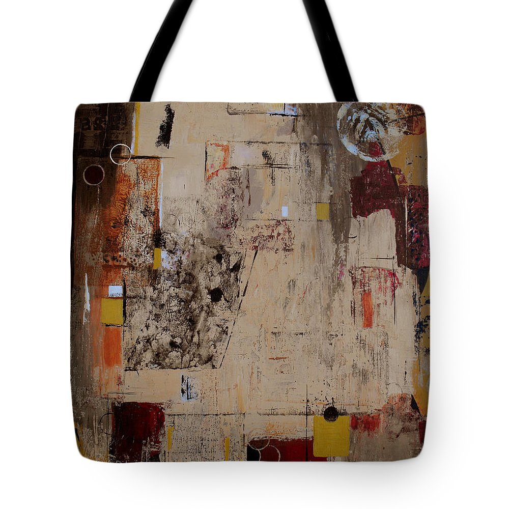 Abstract Tote Bag featuring the painting Fractions by Ruth Palmer