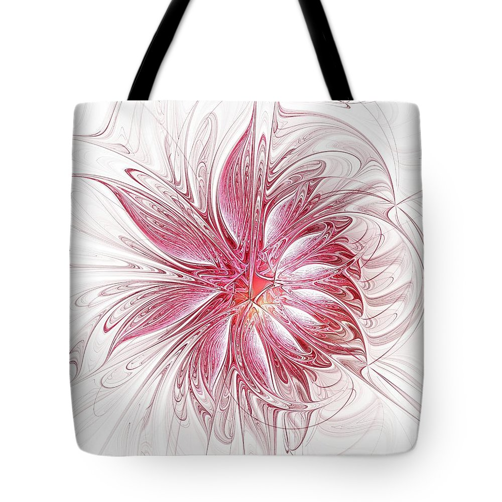 Digital Art Tote Bag featuring the digital art Fragile by Amanda Moore