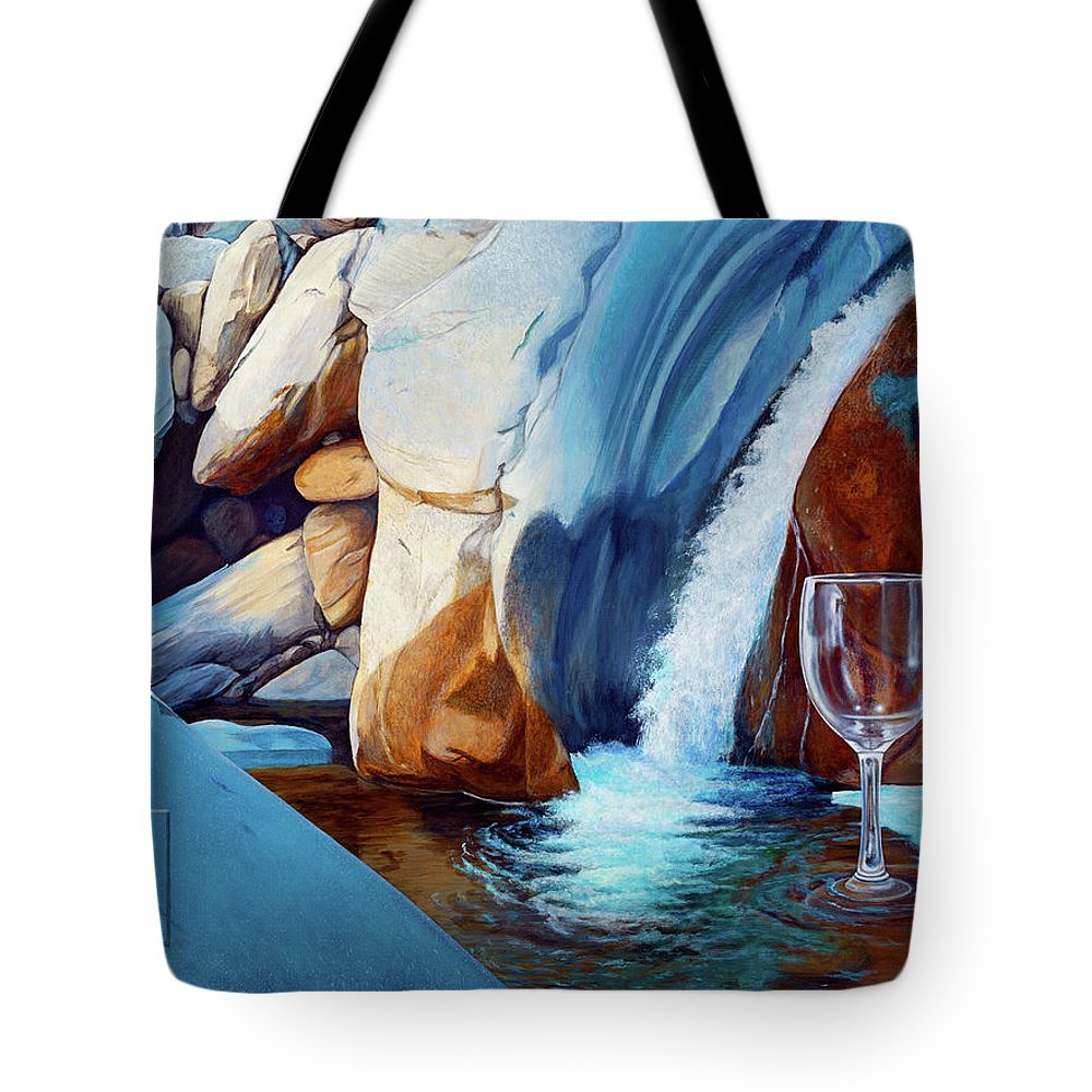 Landscape Tote Bag featuring the painting Fragile Moments by Snake Jagger