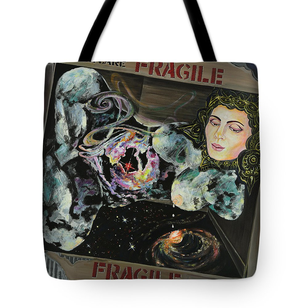 Love Tote Bag featuring the painting Fragile by Yelena Tylkina