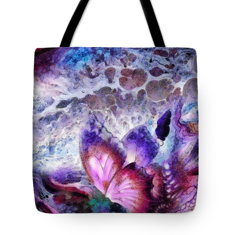 Fragility Tote Bag featuring the painting Fragility by Mo T
