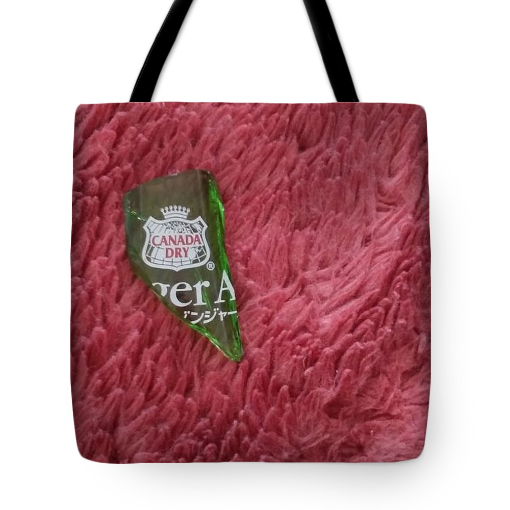 #bottle Tote Bag featuring the photograph Fragment of bottle by Sari Kurazusi