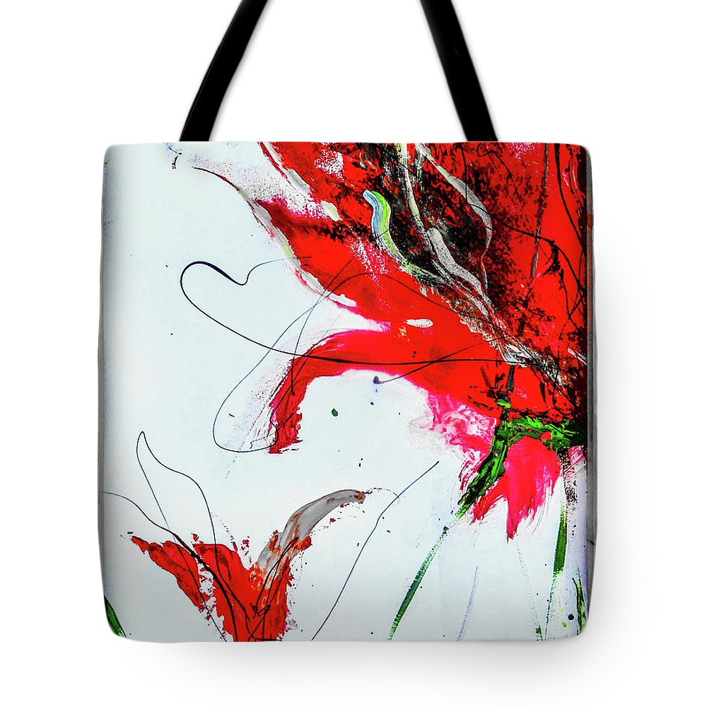 Hearts Tote Bag featuring the digital art Framed Scribbles And Splatters On Canvas Wrap by Lisa Kaiser
