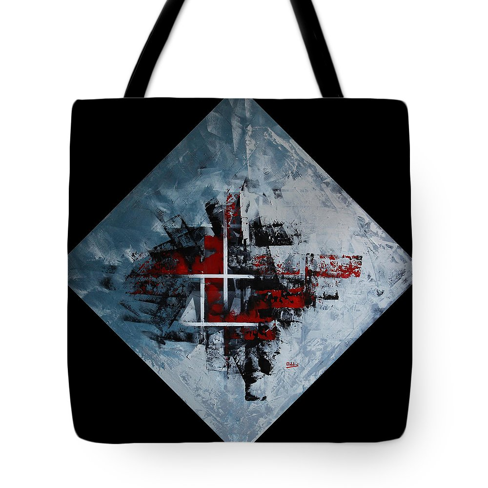 Abstract Tote Bag featuring the painting Frammenti In Rosso E Nero by Massimo Onnis