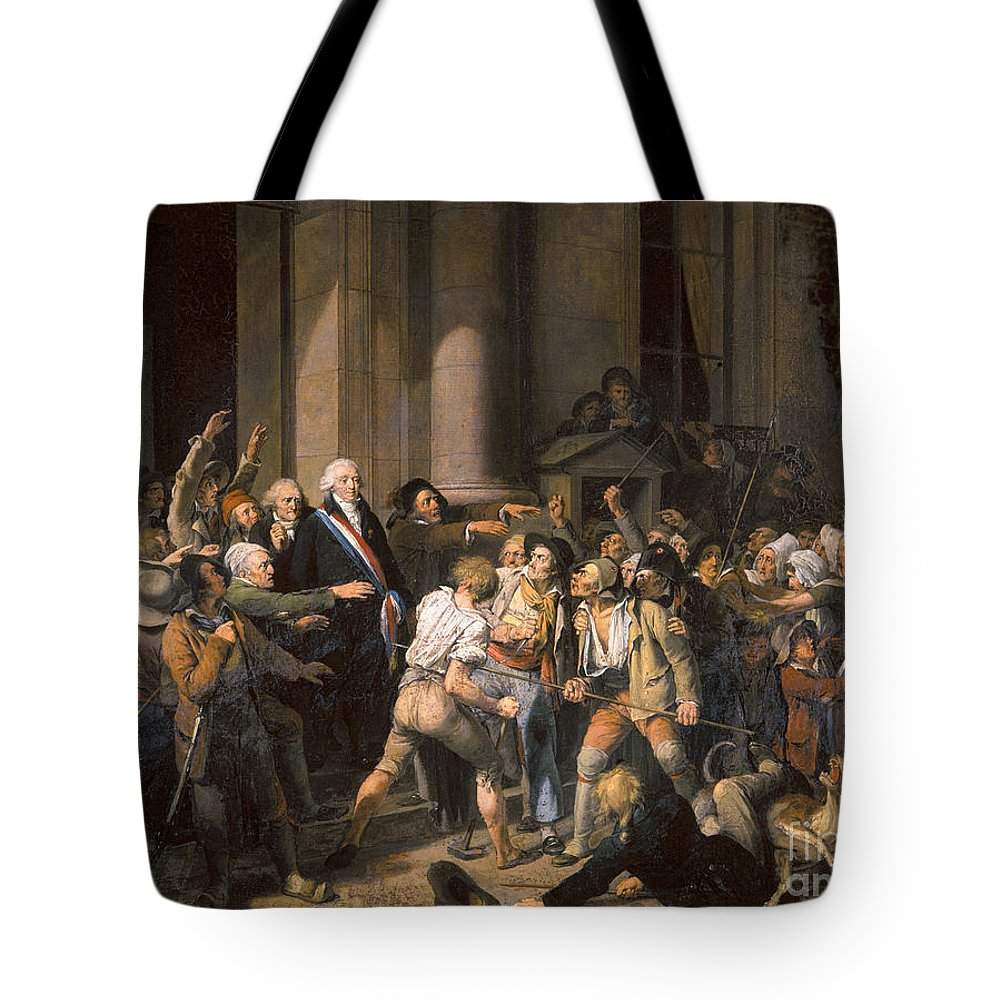 1793 Tote Bag featuring the photograph France: Bread Riot, 1793 by Granger
