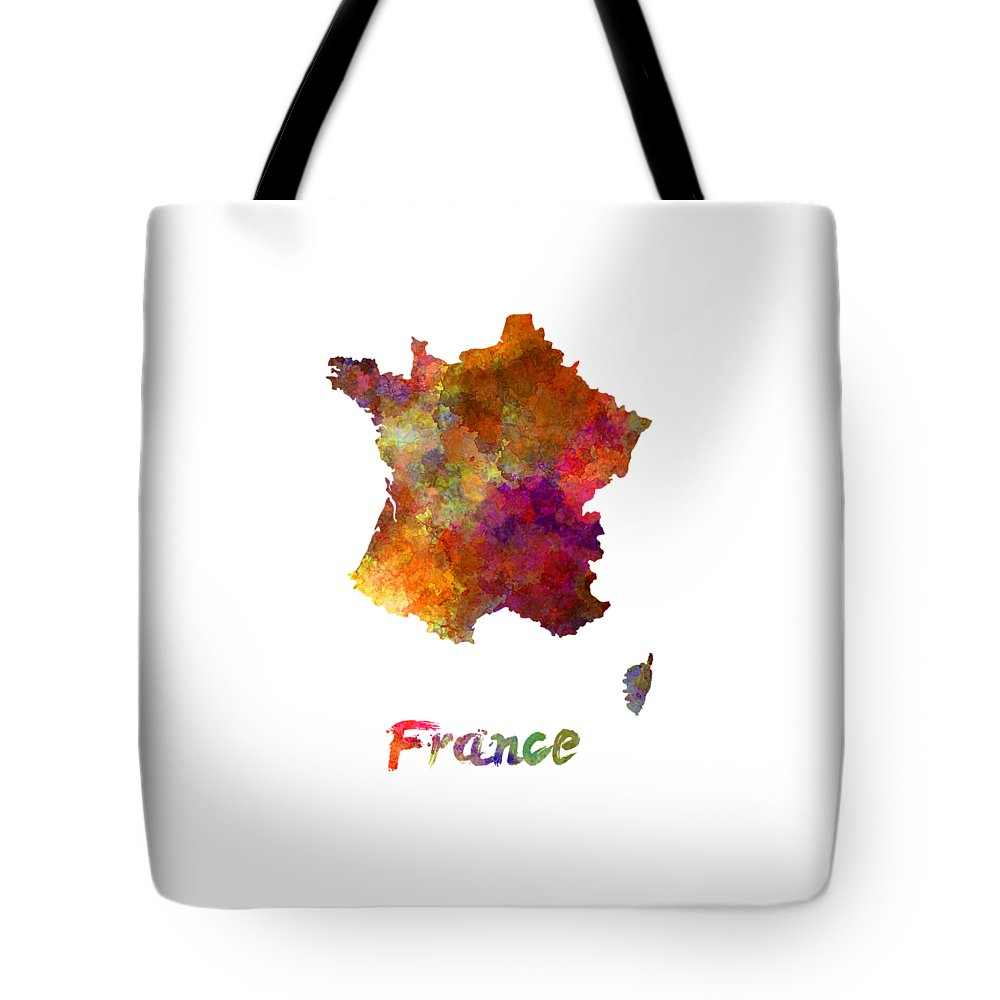 France Tote Bag featuring the painting France In Watercolor by Pablo Romero