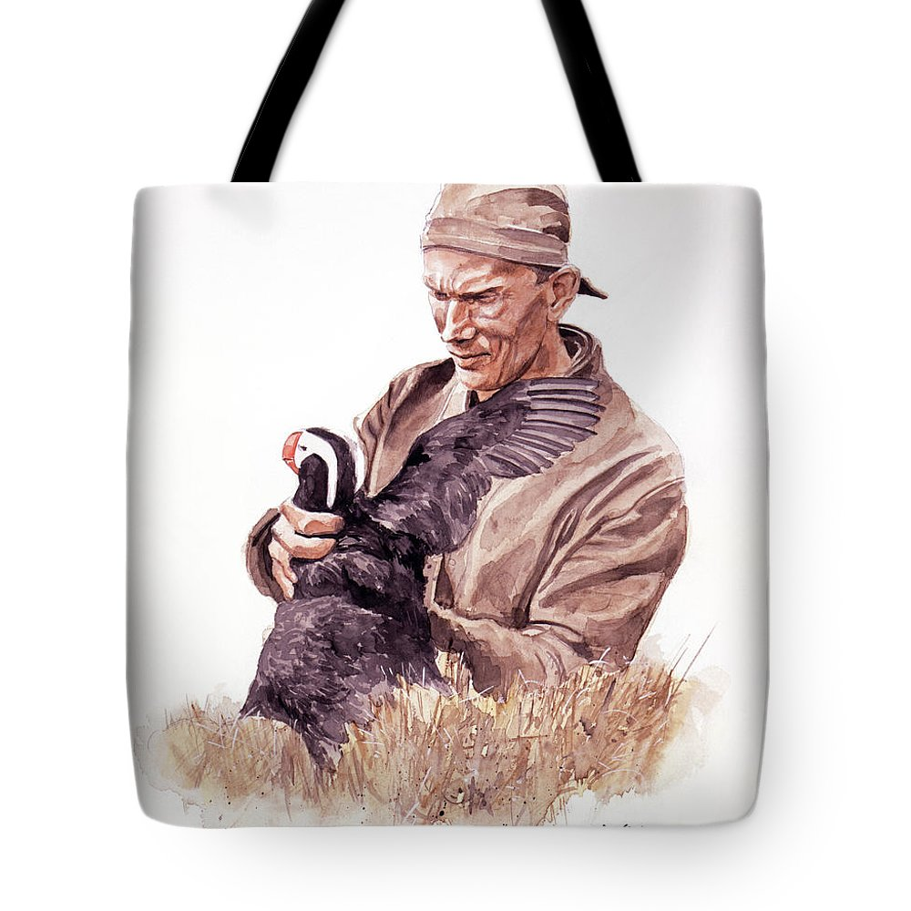 Frank Beebe Tote Bag featuring the painting Frank Beebe by David Lloyd Glover