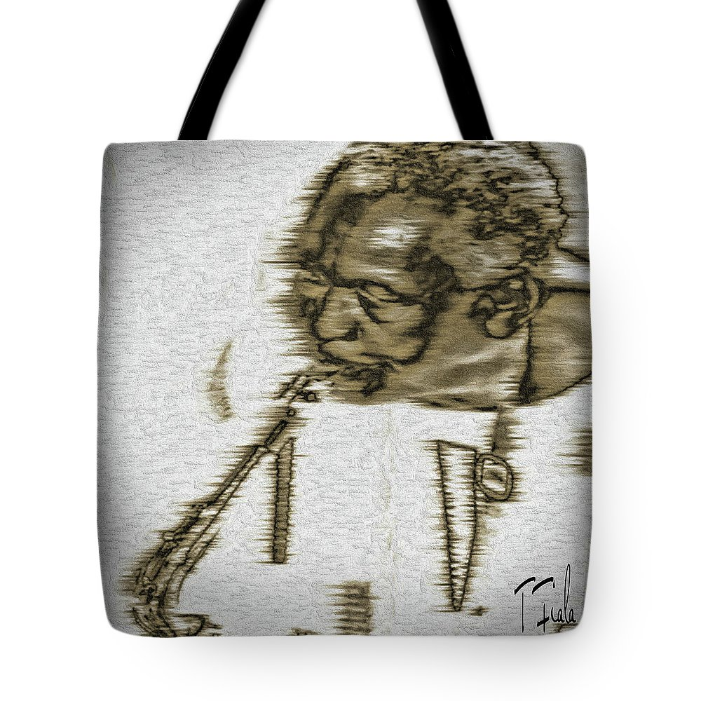 Frank Morgan Tote Bag featuring the digital art Frank Morgan by Terry Fiala