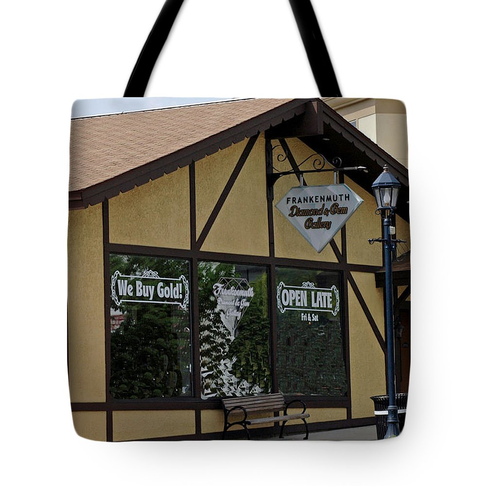 Architecture Tote Bag featuring the photograph Frankenmuth Diamond And Gem Gallery by LeeAnn McLaneGoetz McLaneGoetzStudioLLCcom