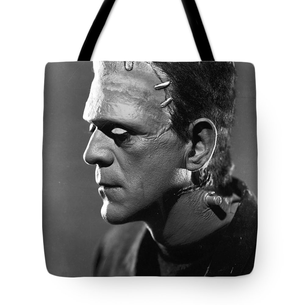 Frankenstein.monster Tote Bag featuring the photograph Frankenstein by R Muirhead Art