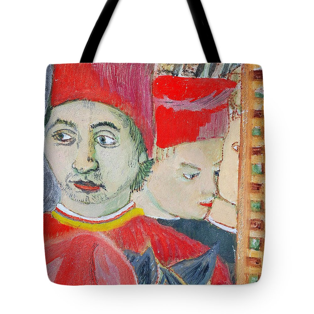 Italian Tote Bag featuring the painting Fratello by Kurt Hausmann
