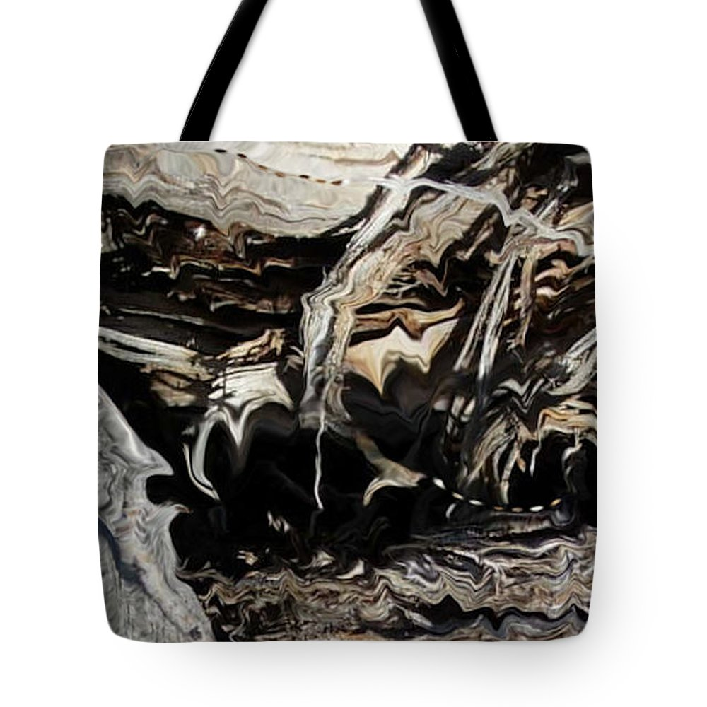 Abstract Art Tote Bag featuring the photograph Frayed and Distracted Thoughts by Stephanie H Johnson