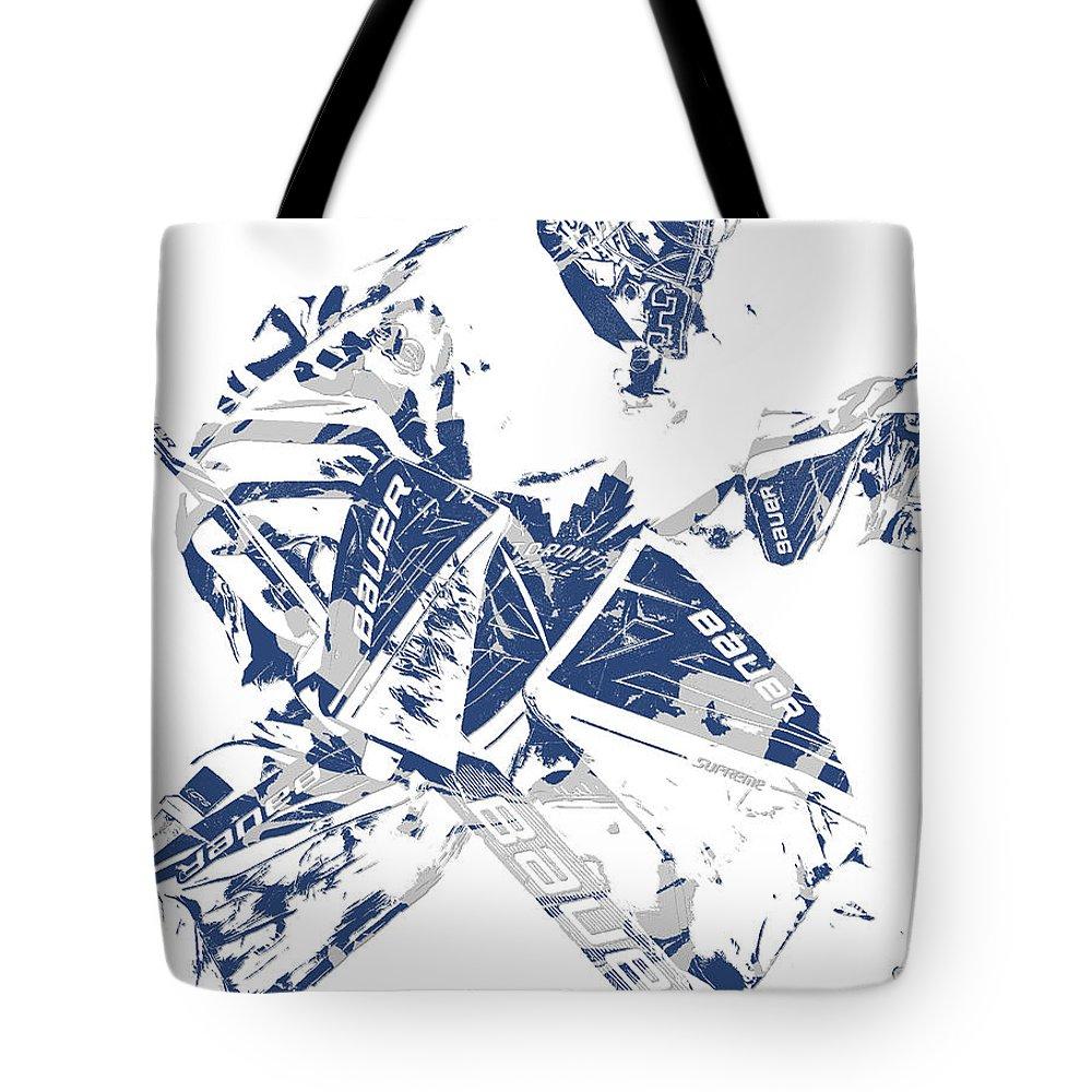 Frederik Andersen Toronto Maple Leafs Pixel Art 4 Tote Bag For Sale By Joe Hamilton