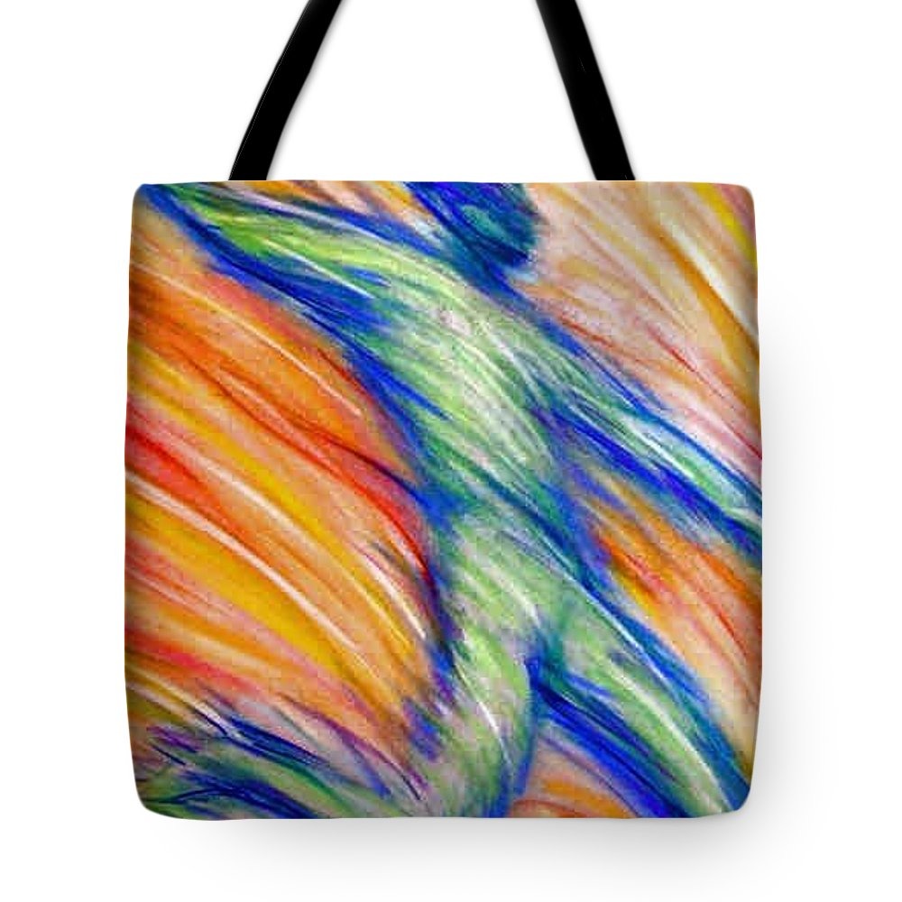 Tote Bag featuring the drawing Free Fall by Jan Gilmore