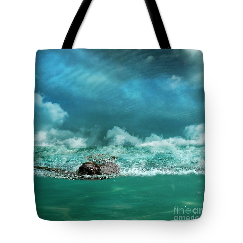 Sea Tote Bag featuring the photograph Free by Martine Roch