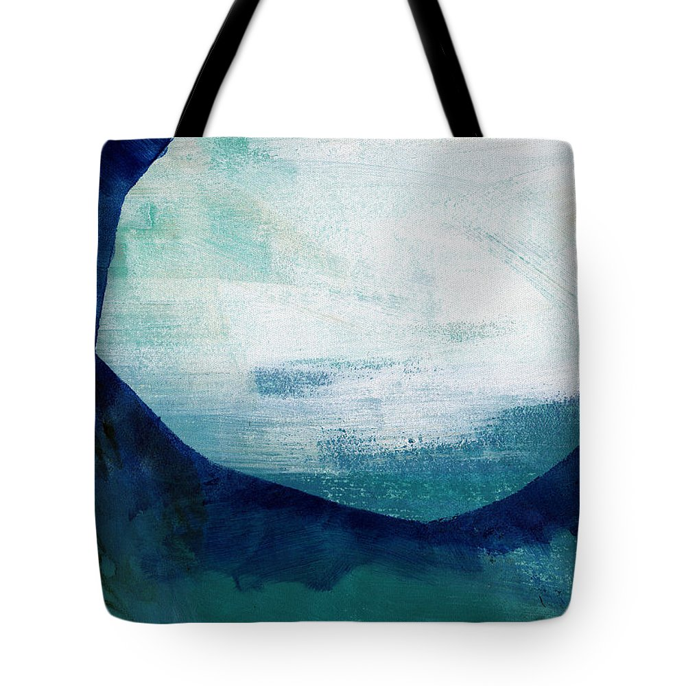 Blue Tote Bag featuring the painting Free My Soul by Linda Woods