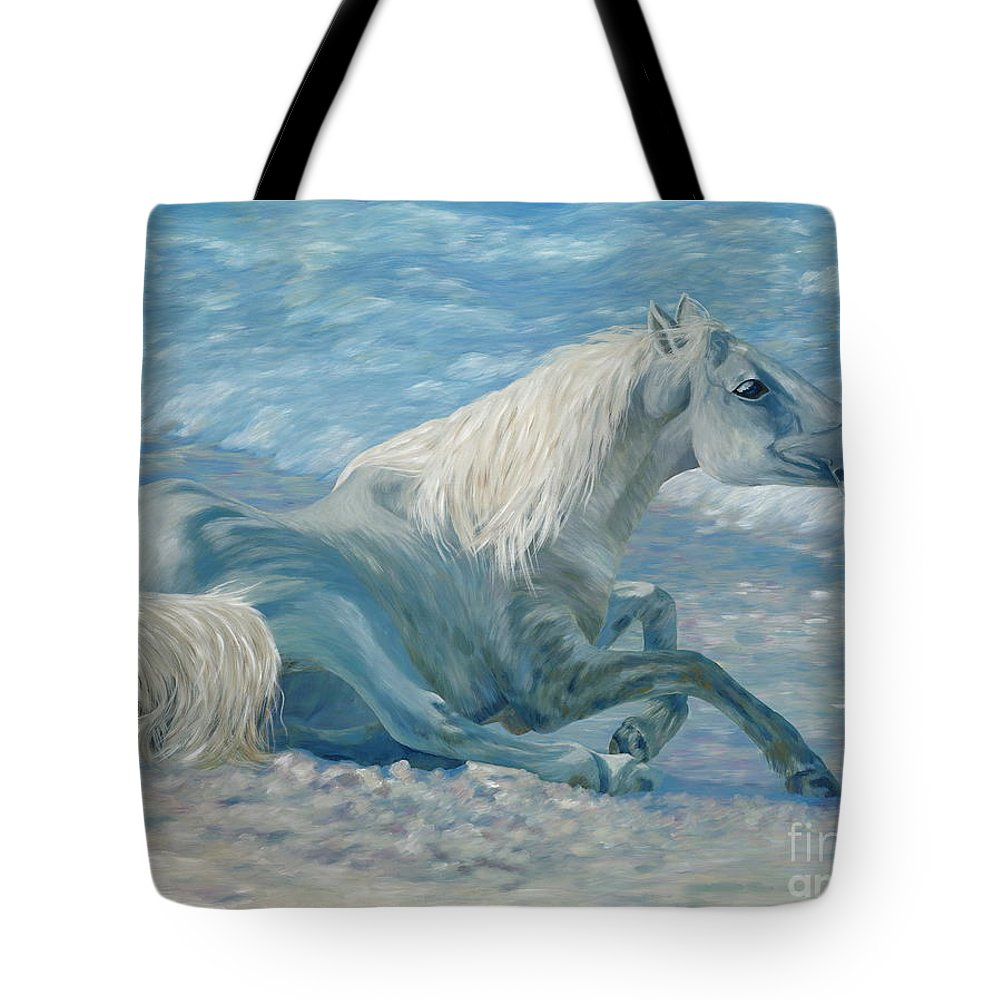 Seascape Tote Bag featuring the painting Free Spirit by Danielle Perry