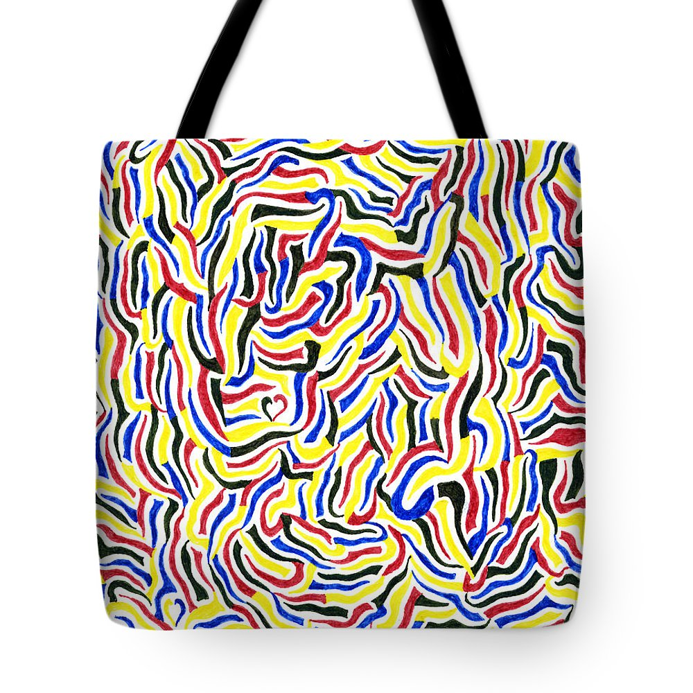 Mazes Tote Bag featuring the drawing Free Will by Steven Natanson