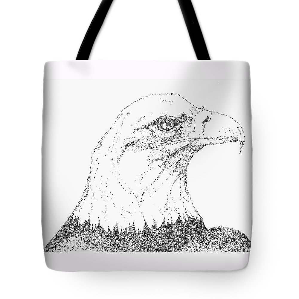 Eagle Tote Bag featuring the drawing Freedom by Debra Sandstrom