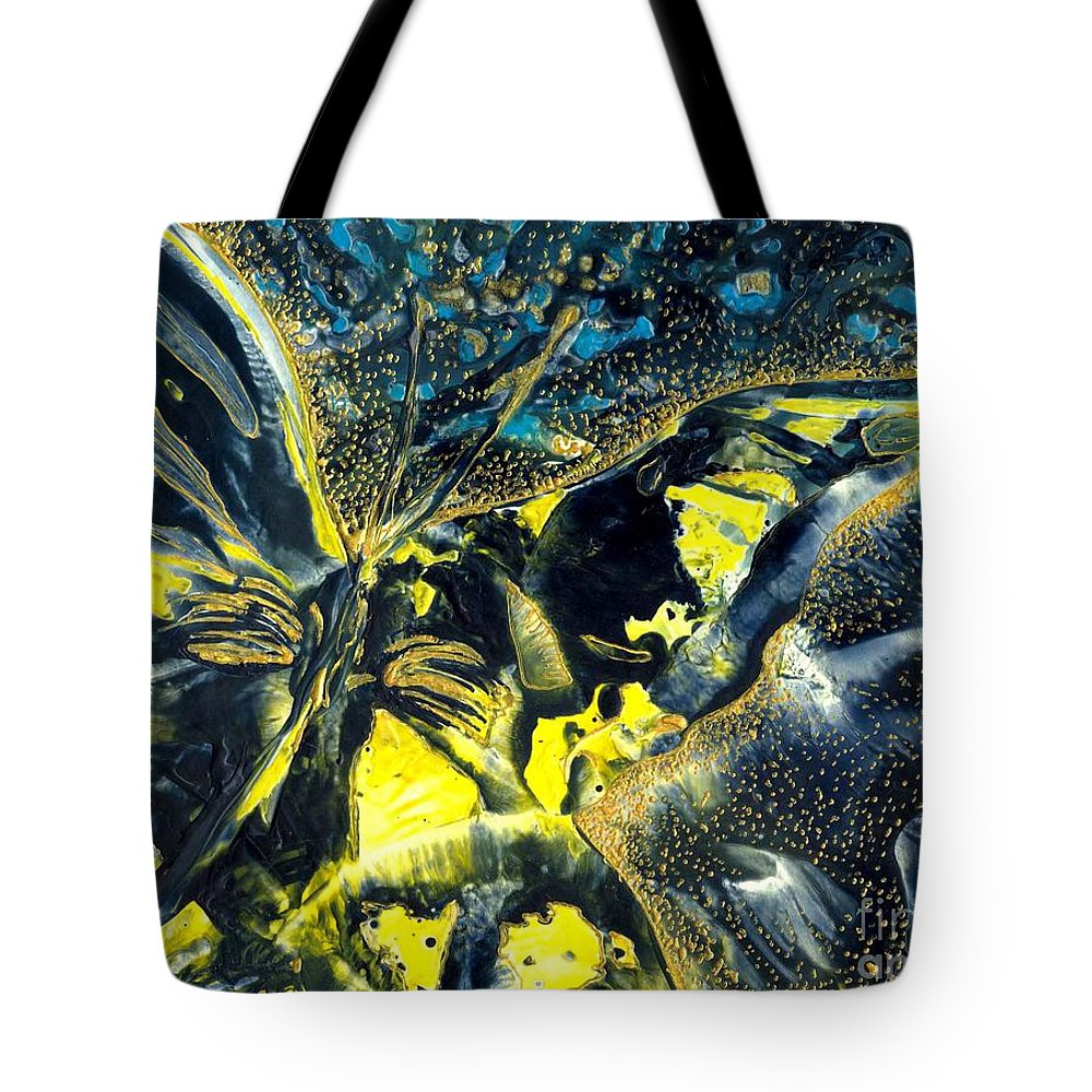 Butterfly Tote Bag featuring the painting Freedom For Margot by Heather Hennick