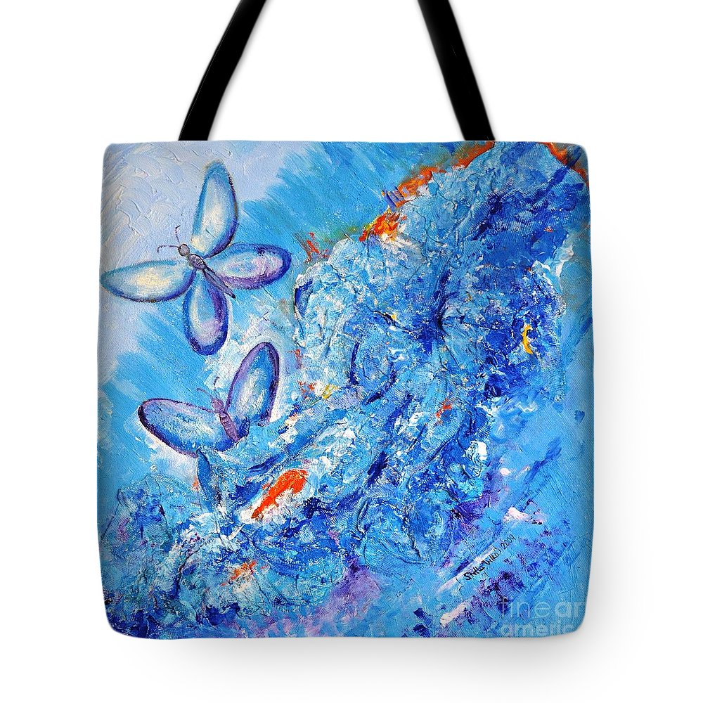 Fantasy Tote Bag featuring the painting Freedom In Soul by Stella Velka