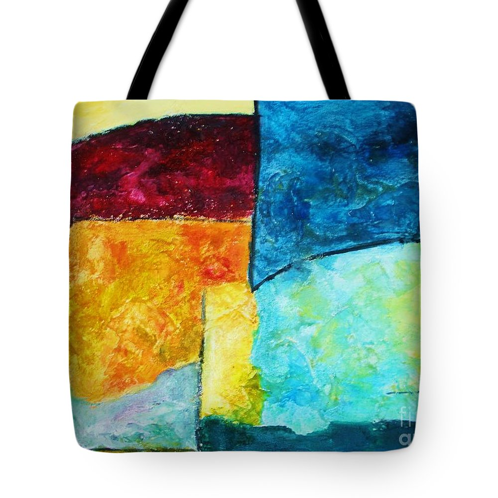 Acrylic Painting Tote Bag featuring the painting Freedom by Yael VanGruber