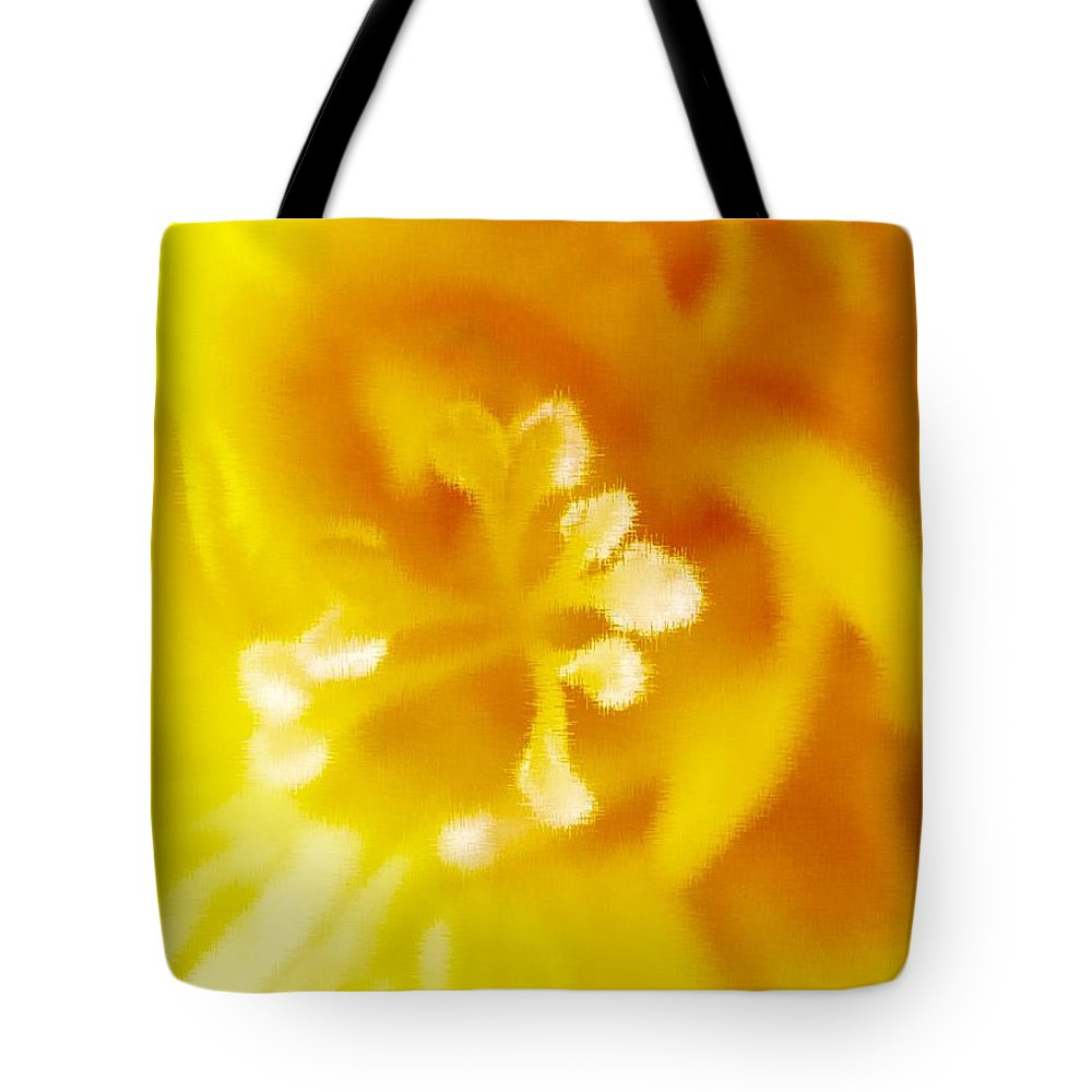 Freesia Tote Bag featuring the photograph Freesia I by Susan Dietz