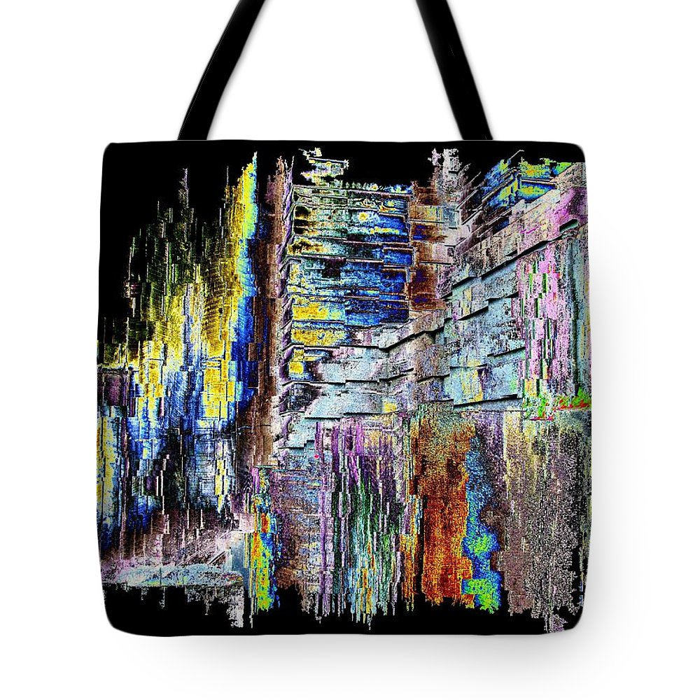 Abstract Tote Bag featuring the digital art Freeway Park 9 by Tim Allen